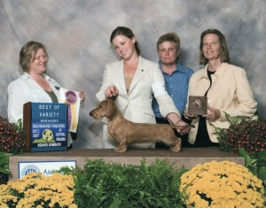 Gleneagle's Who's Famous Now. AKC Champion in 2006